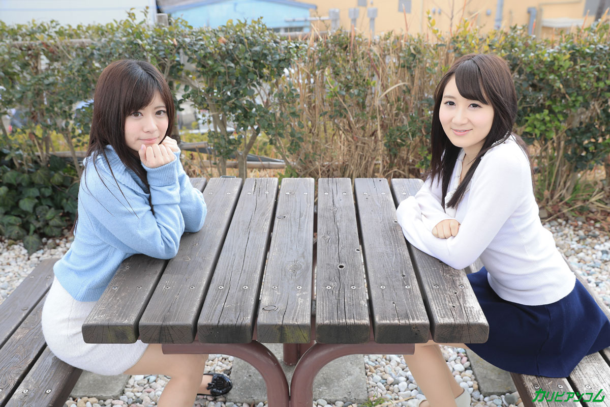 カリビアンコムプレミアム:かり美びあんず 〜美しすぎる2人のラブラブレズえっち〜:葵千恵, 千野くるみ